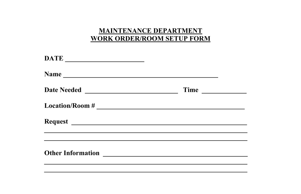 Maintenance Request Template. excel work order template 6 free ...